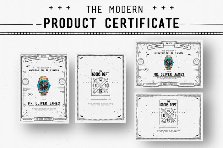 Thumbnail for Modern Product Certificate