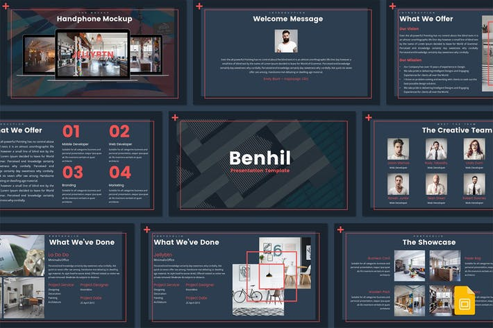 Thumbnail for Benhil - Google Slides Template