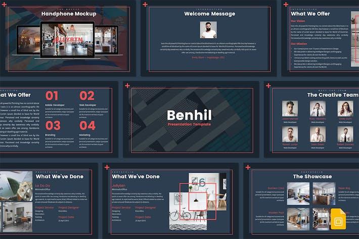 Thumbnail for Бенхил - Шаблон слайдов Google