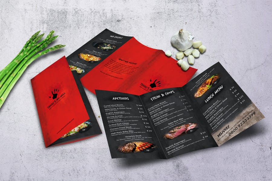 There's no Hell Tri-Fold Menu A4 & US Letter