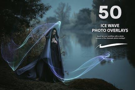 50 Ice Wave Photo Overlays