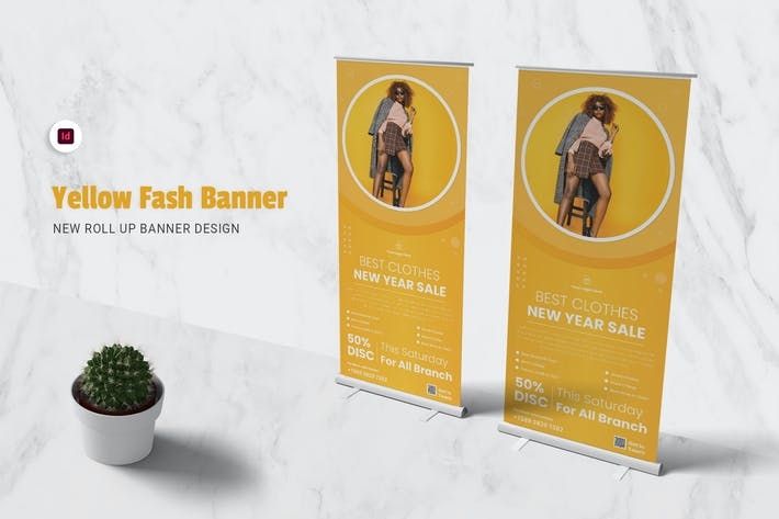 Thumbnail for Yellow Fash Roll Up Banner