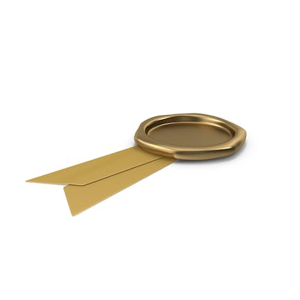 Gold Ribbon with Wax Stamp