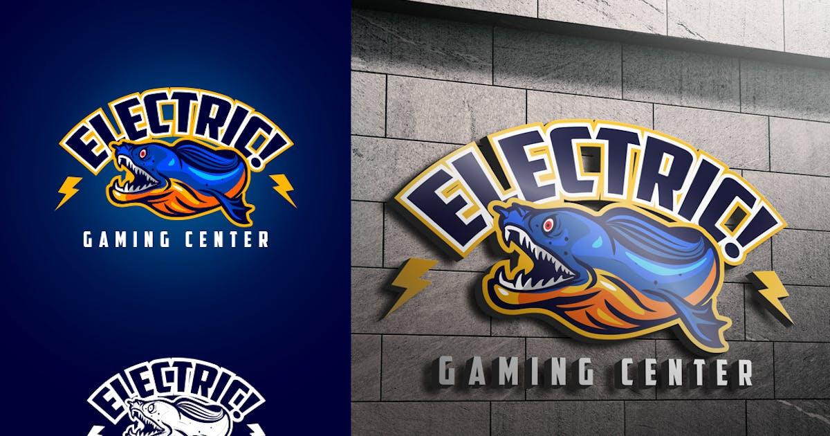 Electric Blue Eeel Mascot Esports or Sports Logo by Suhandi