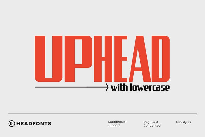 Thumbnail for Uphead | Industrial Font