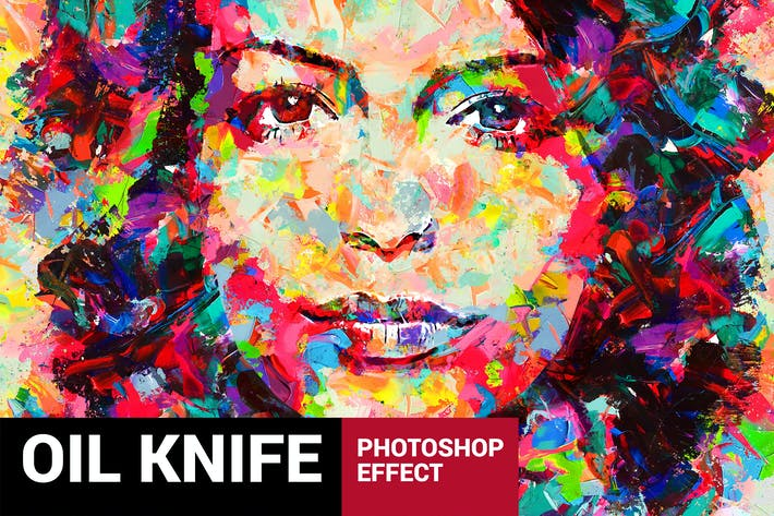For Ultimatum 2 - Oil Knife Painting Photoshop Action