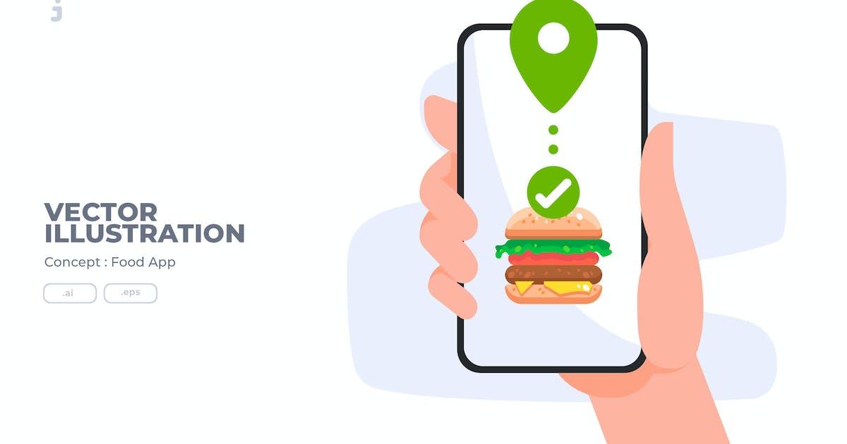 Download Food App - Vector Illustration by Justicon