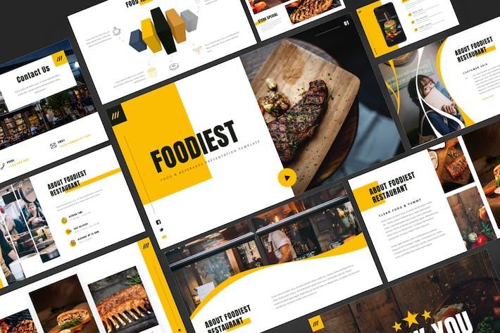 Thumbnail for Foodiest - Еда и напитки Keynote Шаблон