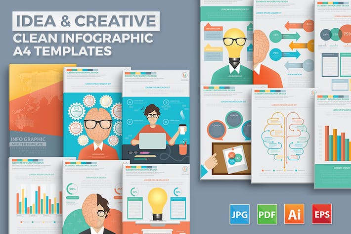 Thumbnail for Idea and creative Infographic Design