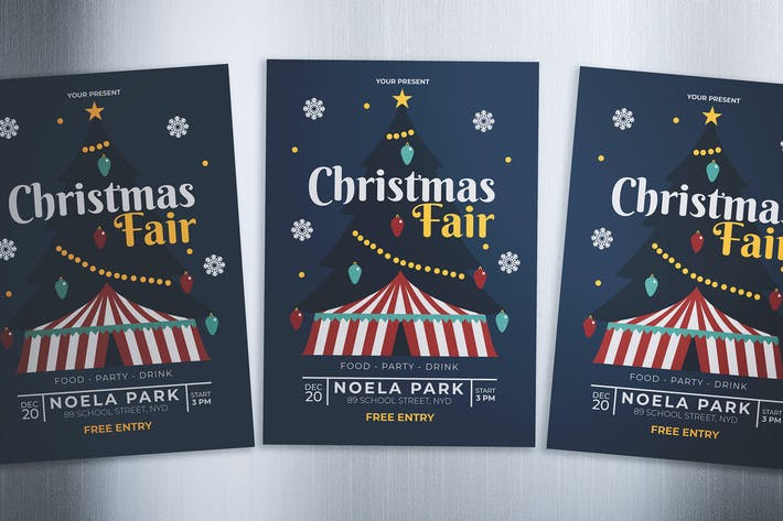 Cover Image For Christmas Fair Flyer