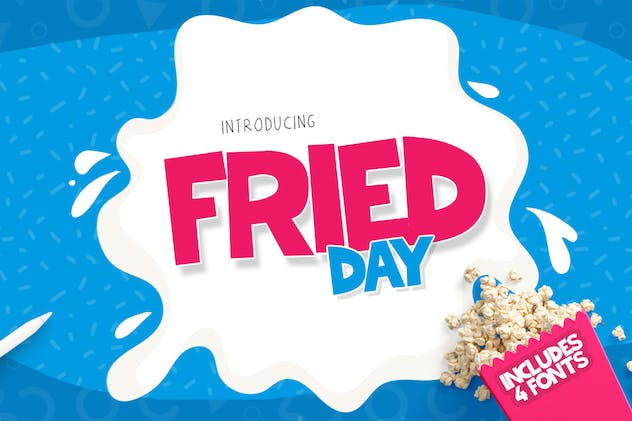 Fried Day Font - product preview 0