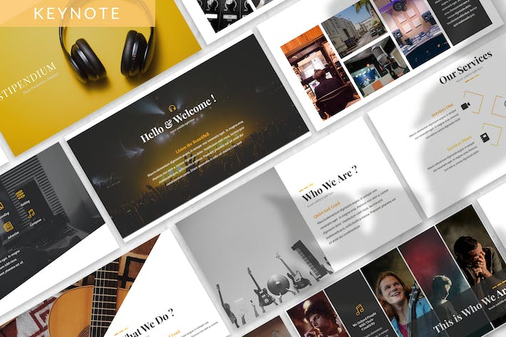 Thumbnail for Stipendium - Music Keynote Template