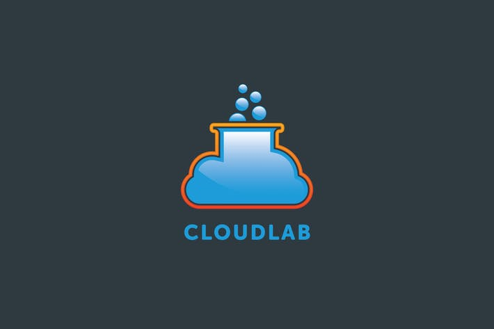 Thumbnail for Cloud Lab Logo Template