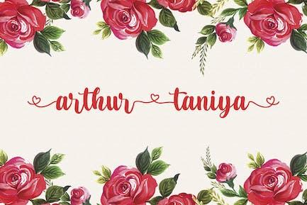 Arthur Taniya - Lovely Calligraphy Font