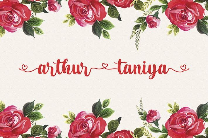 Thumbnail for Arthur Taniya - Lovely Calligraphy Font