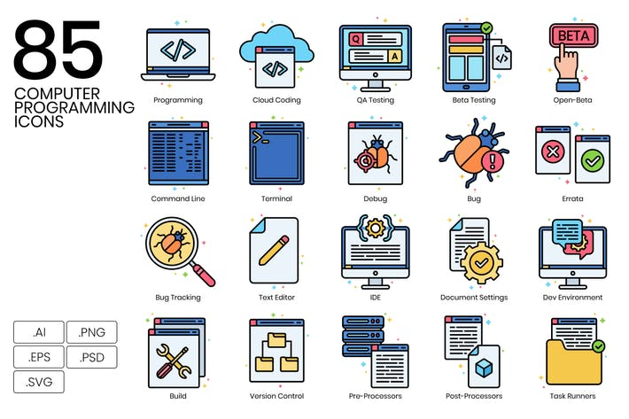 Cover Image For 85 Computer Icons & Programming Icons