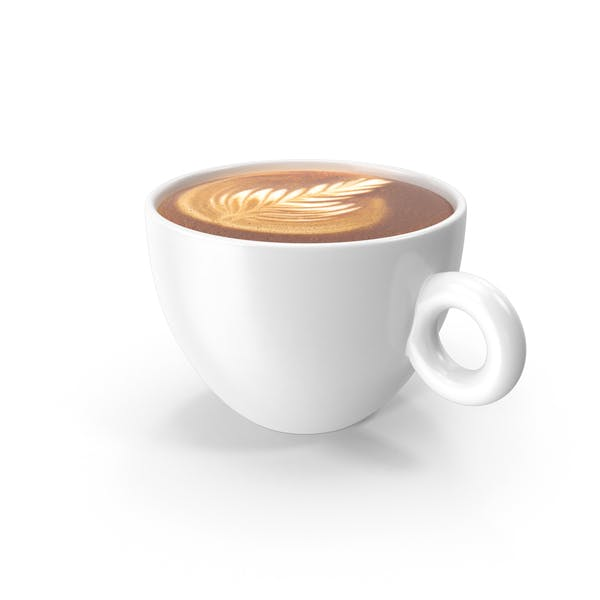 White Cup With Cappuccino