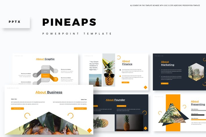 Cover Image For Pineaps - Powerpoint Template