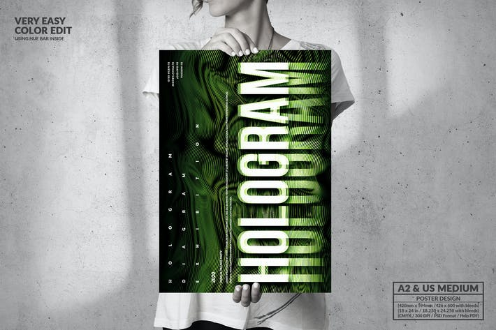 Thumbnail for Hologram Music Event Party - Big Poster Design