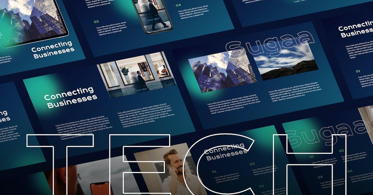 Sugaa - Tech Theme Powerpoint Template by Slidehack