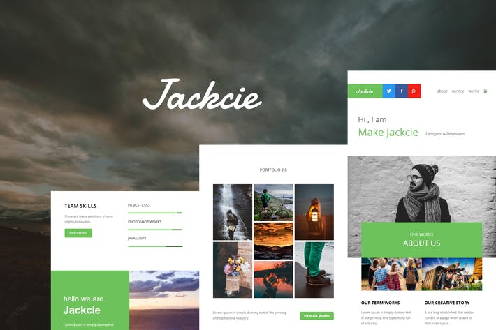 Thumbnail for Jackcie Mail - Responsive E-mail Template