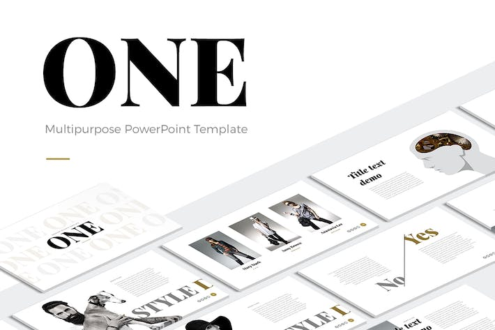 one modern powerpoint template by site2max on envato elements