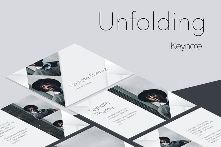 Thumbnail for Unfolding Keynote Template