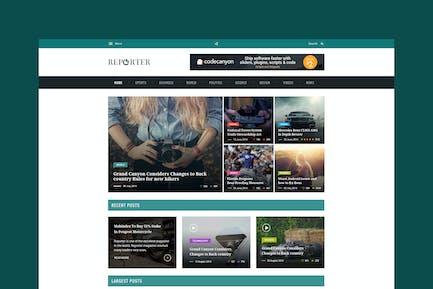 Max Reporter - HTML Magazine Template