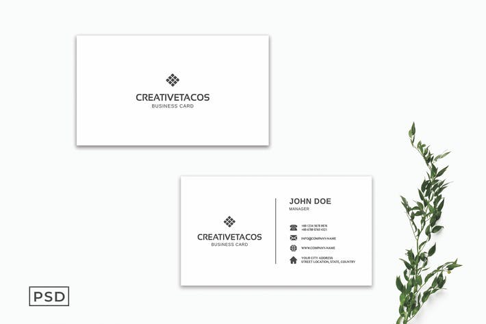 White Creative Minimalist Business Card Template