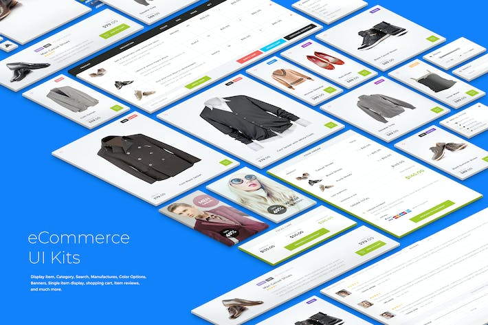 Thumbnail for eCommerce UI Kits - Light Style