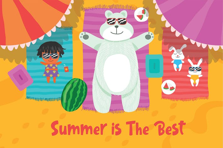 Thumbnail for Summer is Best - Vector Illustration