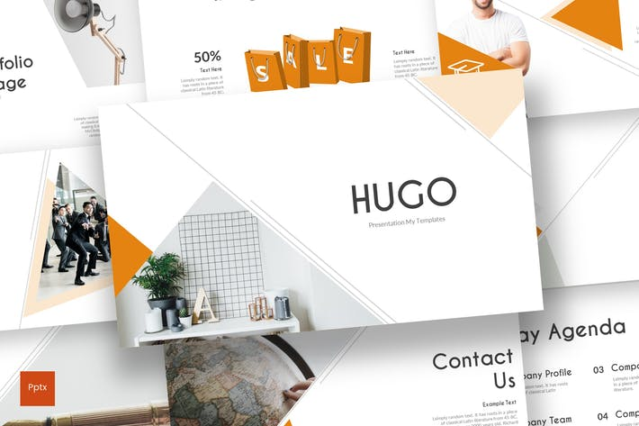 Thumbnail for Hugo - Powerpoint Template