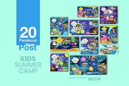 20 Facebook Post Banner - Kids Summer Camp