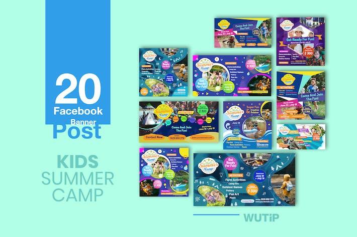Thumbnail for 20 Facebook Post Banner - Kids Summer Camp