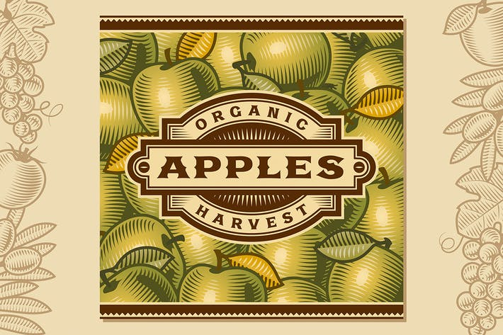 Thumbnail for Retro Apple Harvest Label
