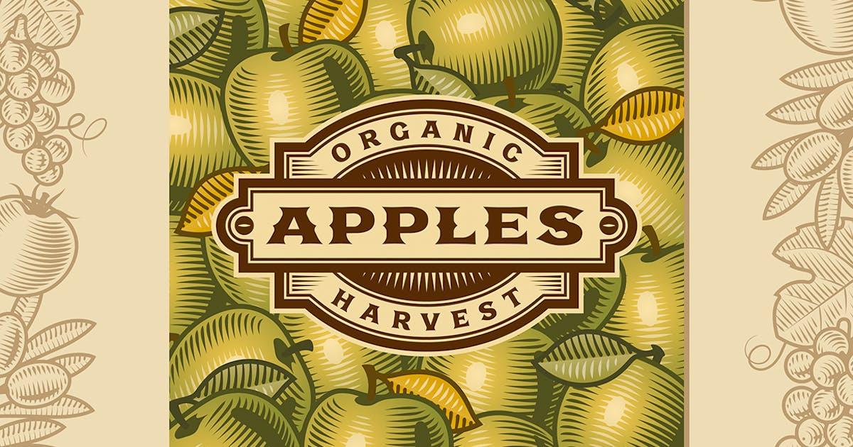 Download Retro Apple Harvest Label by iatsun