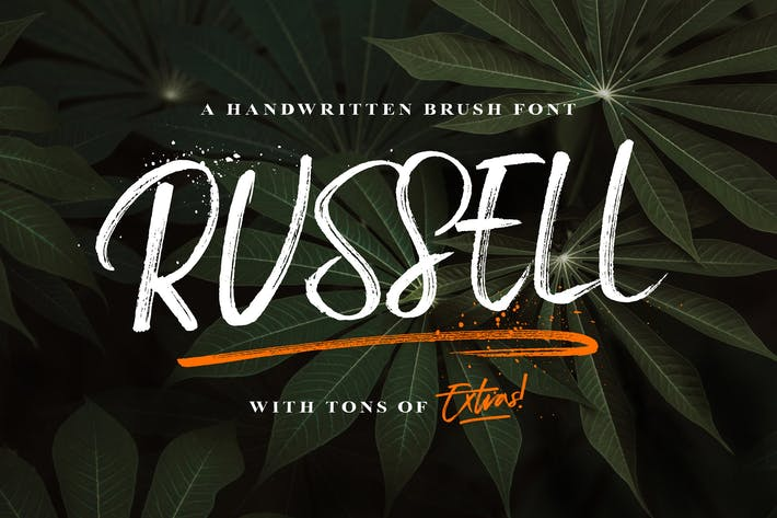 Cover Image For Russell Brush Script Font