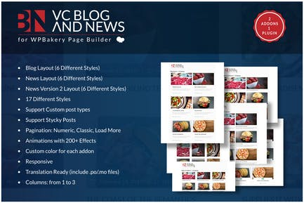Blog and News Addons for WPBakery Page Builder WP