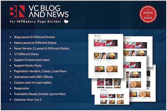 Cover Image For Blog and News Addons for WPBakery Page Builder WP