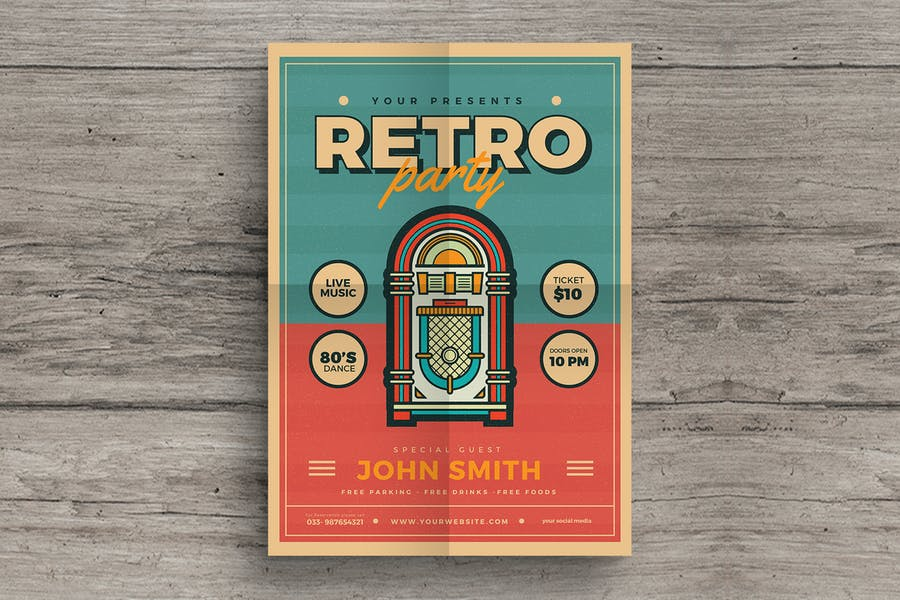 Retro Jukebox Party Flyer - product preview 0