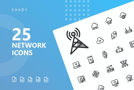 Network Shady Icons