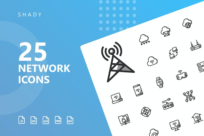 Thumbnail for Network Shady Icons