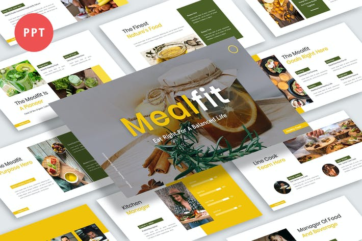 Thumbnail for Презентация Mealfit Powerpoint