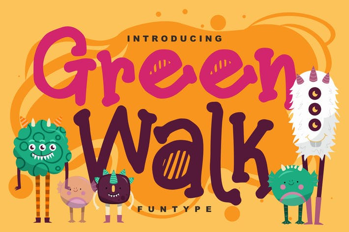 Thumbnail for Green walk | Decorative Fun Type Font