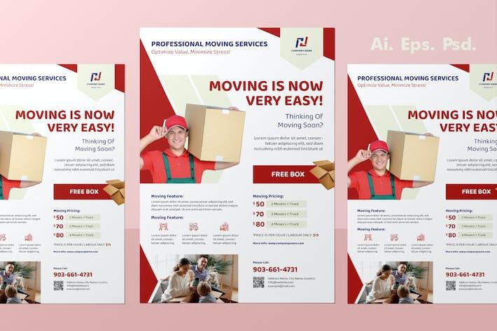 Thumbnail for Conception de dépliant de service de déménagement