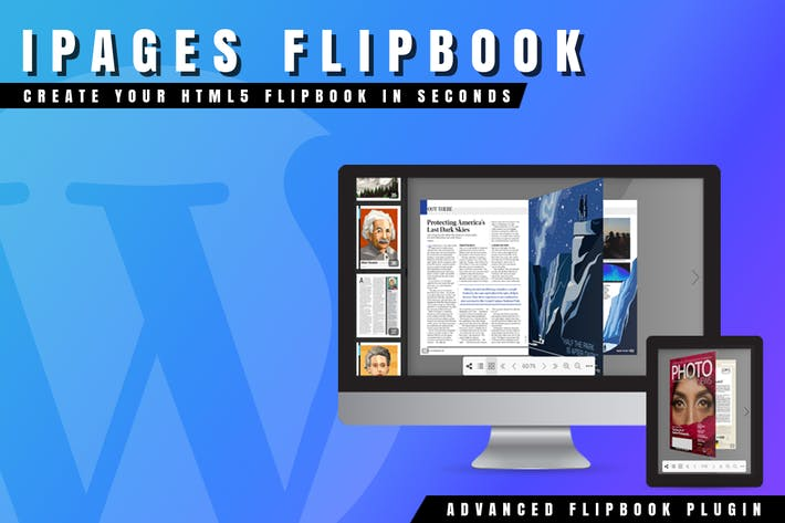 iPages Flipbook For WordPress by Avirtum on Envato Elements