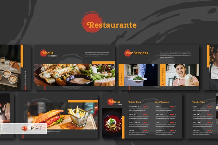 Thumbnail for RESTAURANTE - Food and Beverages Powerpoint Templa