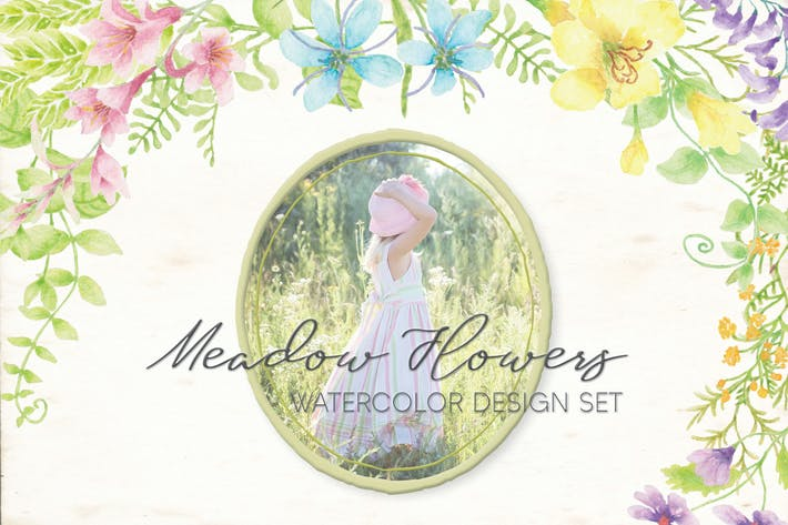 Thumbnail for Meadow Flowers: Watercolor Collection