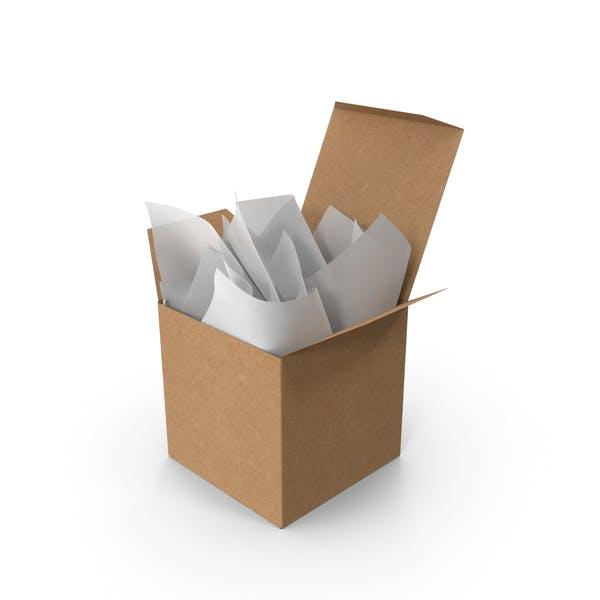 Крафт квадратная упаковочная коробка с белой подарочной бумагой