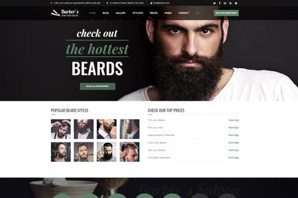 Barber - WordPress Thema für Friseure & Friseure